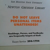 Photo taken at Newton Gresham Library by Lauren Marie S. on 9/5/2012