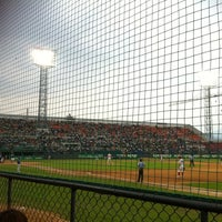 Photo taken at Mudeung Baseball Stadium by JaeRim K. on 6/7/2012