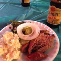 Photo taken at Augie's Barbed Wire Smokehouse by Will M. on 4/21/2012