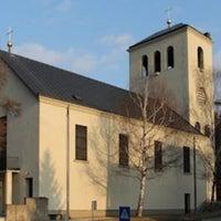 Photo taken at Leopoldskirche by Elisabeth F. on 4/2/2012