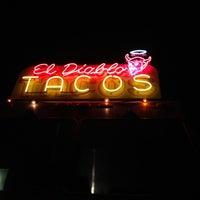 Photo taken at El Diablo Tacos by Nikki N. on 5/12/2012