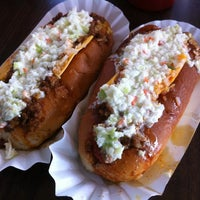 Photo taken at Brandi's World Famous Hot Dogs by Chris C. on 7/25/2011