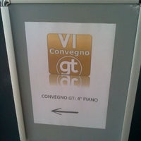 Photo taken at VI Convegno GT by Gianluca P. on 12/18/2011