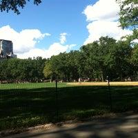 Photo taken at Heckscher Field by Yang J. on 9/9/2012