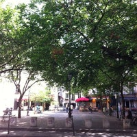 Photo taken at Place du Marché Sainte-Catherine by R A. on 7/18/2012