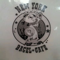 Photo taken at New York Bagel Cafe And Bakery by Chicho O. on 10/23/2011