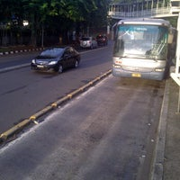 Photo taken at Halte Bus Dukuh Atas by andi andes on 12/11/2011