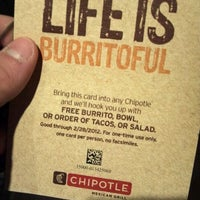 Photo taken at Chipotle Mexican Grill by Christopher Michael S. on 1/12/2012