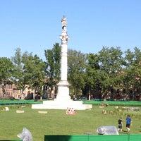 Photo taken at Piazza Ariostea by Luigi D. on 5/26/2012
