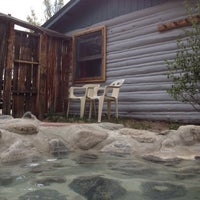 Photo taken at Cottonwood Hot Springs Cabin #1 by Mariana W. on 5/11/2012