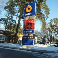 Photo taken at Statoil DUS   Jūrmala by Виталий Т. on 1/31/2012