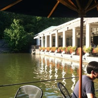 Photo taken at Central Park Boathouse by Brooke B. on 8/31/2012