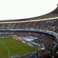 Photo taken at Estadio Juan Domingo Perón (Racing Club) by Hernan G. on 8/4/2012