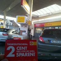 Photo taken at Shell Tankstelle by David H. on 3/12/2012
