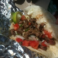 Photo taken at YES! Taco at SiNaCa Studios by Jen R. on 8/22/2011