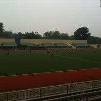 Photo taken at Stadium Hoki Nasional by Nicholas K. on 6/16/2012