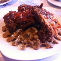 Photo taken at Dame's Chicken & Waffles by Chris F. on 4/17/2012