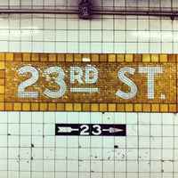 Photo taken at MTA Subway - 23rd St (C/E) by Daniel C. on 4/16/2012