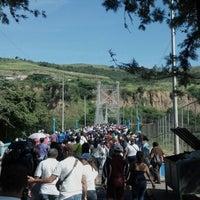 Photo taken at Puente Colgante Libertador (Monumento Nacional) by Viviana T. on 8/17/2012