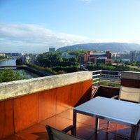 Photo taken at Hotel Silken Amara Plaza by Jordi L. on 8/6/2012