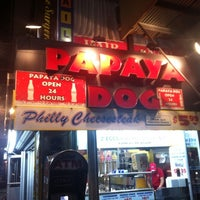 Photo taken at Papaya Dog by Andrew P. on 8/11/2011