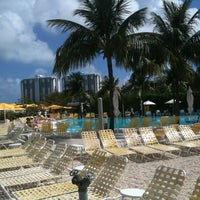 Photo taken at Pool at The Standard Spa, Miami Beach by Andrew W. on 3/9/2012