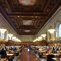Photo taken at Rose Main Reading Room - New York Public Library by Thodoris B. on 1/3/2012