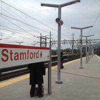 Photo taken at Stamford Transportation Center Bus/Train (STM) Metro North & Amtrak by Arthur T. on 5/14/2012