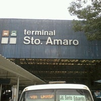 Photo taken at Terminal Santo Amaro by Vanessa S. on 3/23/2012