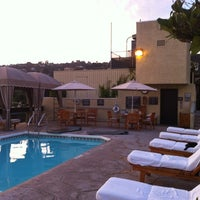 Photo taken at Le Montrose Rooftop Pool by Davide B. on 8/16/2012