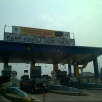 Photo taken at Gerbang Tol Pondok Gede Timur by iwan M.D T. on 5/12/2012