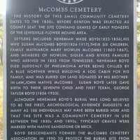 Photo taken at McCombs Cemetery by Roxanne on 8/9/2011