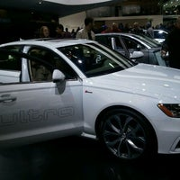 Photo taken at Audi Stand at Detroit Auto Show by Rachel P. on 1/21/2012