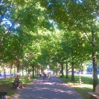 Photo taken at Commonwealth Avenue Mall by Sean B. on 10/10/2011