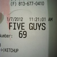 Photo taken at Five Guys by Tarah A. on 1/13/2012