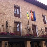 Photo taken at Parador Santo Domingo de la Calzada by Alejandra D. on 6/2/2012