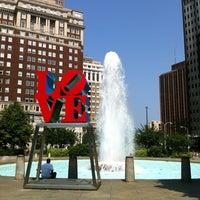 Photo taken at JFK Plaza / Love Park by Heather B. on 5/28/2012
