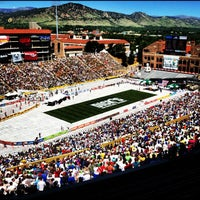 Photo taken at Folsom Field by CU Book Store on 5/30/2012