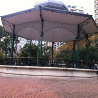 Photo taken at Plaza Barrancas de Belgrano by Diego G. on 6/4/2012