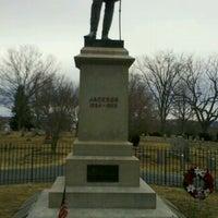 "Photo taken at Thomas ""Stonewall"" Jackson's Grave by Mike H. on 2/20/2011"