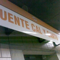 Photo taken at Metro Puente Cal y Canto by Hernán T. on 11/8/2011