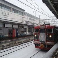 Photo taken at しなの鉄道 上田駅 by natsuko on 2/29/2012