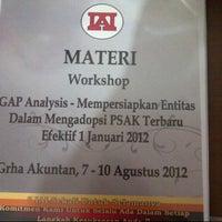 Photo taken at Ikatan Akuntan Indonesia by artie h. on 8/7/2012