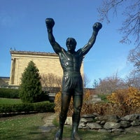Photo taken at Rocky Statue by Eduardo O. on 11/26/2011