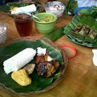 Photo taken at Nasi Timbel Saung Merak 15 by Iin K. on 9/18/2011