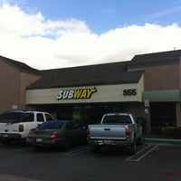 Photo taken at SUBWAY by Brian S. on 2/13/2012