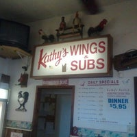 Photo taken at Kathy's Wings & Subs by Craig F. on 4/19/2012