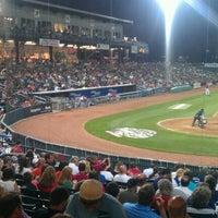Photo taken at Northeast Delta Dental Stadium by Dan G. on 8/26/2012