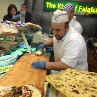 Photo taken at The King Of Falafel by Elaine D. on 2/22/2012