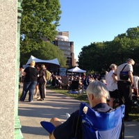 Photo taken at Cathedral Square Park by Bridget K. on 6/7/2012